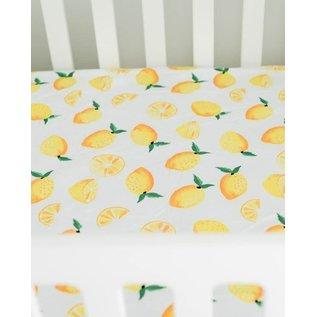 Little Unicorn Lemon Percale Crib Sheet