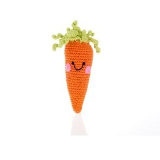Friendly Baby Carrot Rattle, Pebble