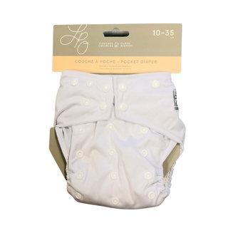 White One-Size Snap Pocket Diaper