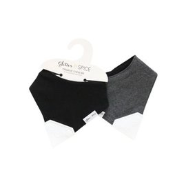 Glitter & Spice Midnight/Graphite Double-sided Chew Bib