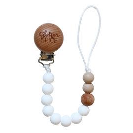 Glitter & Spice Coconut G & S Pacifier Clip
