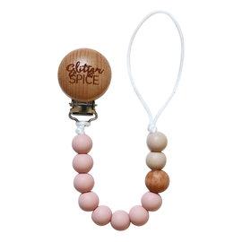 Glitter & Spice Blush G & S Pacifier Clip