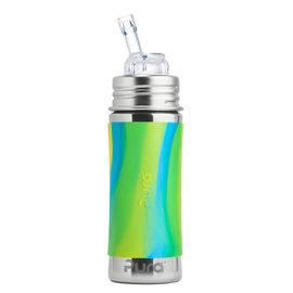 Pura Kiki Aqua Swirl Pura 325ml Straw Bottle