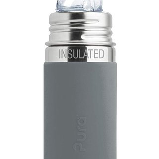 Slate Pura 260ml Insulated Sippy Bottle