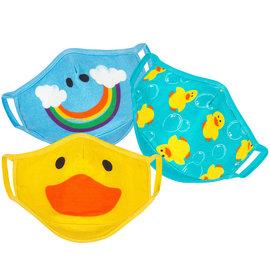 Zoochini Duck 3pk Organic Washable Child Masks