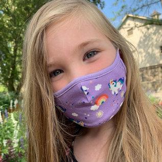 Zoochini Unicorn 3pk Organic Washable Child Masks
