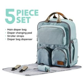 Ice Blue Daily Essential Backpack Diaper Bag