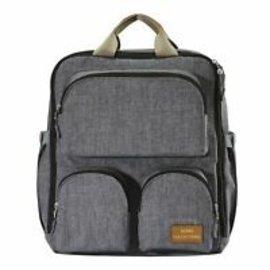 Grey Daily Essential Backpack Diaper Bag