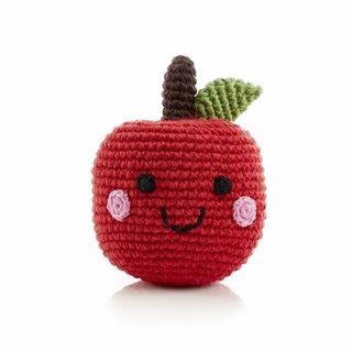 Friendly Baby Apple Rattle, Pebble