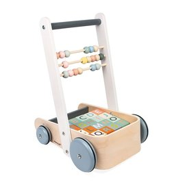 Janod New! Janod Cart with ABC Blocks
