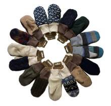 Wool Mittens, Masculine Colours, 4-6 years
