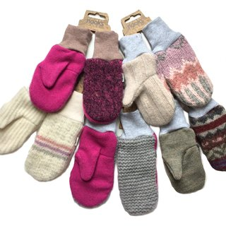 Wool Mittens, Feminine Colours, 2-4 years