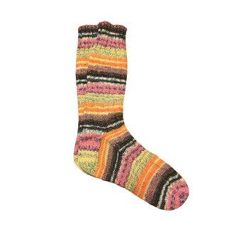 Hand Knit Ladies Merino Wool Socks, Sunrise
