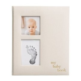 Pearhead Ivory Linen Baby Book