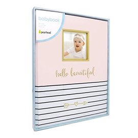 "Pearhead Pink ""Hello Beautiful"" Baby Book"