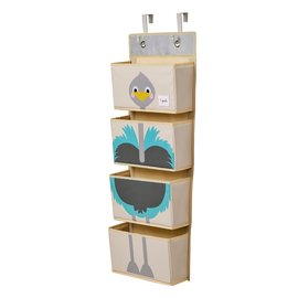 3 Sprouts Ostrich Hanging Wall Organizer