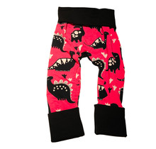 Black/Pink Dino Grow Pants