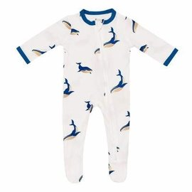 Kyte Baby Whale Zippered Footie