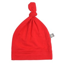 Crimson Bamboo Knotted Cap