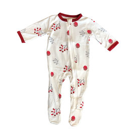 Kyte Baby Holly Berry Zippered Footie