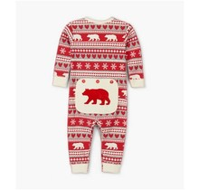 Fair Isle Bear Baby Unionsuit
