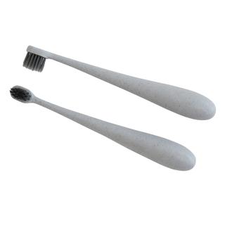 Grey Kids Wheat Fibre Toothbrush