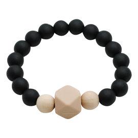 Glitter & Spice Midnight Black Gemstone Teething Bracelet