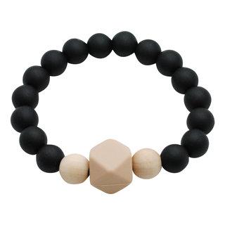Midnight Black Gemstone Teething Bracelet