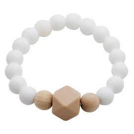 Glitter & Spice Porcelain White Gemstone Teething Bracelet