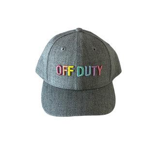 Rainbow on Grey Off Duty Ball Cap