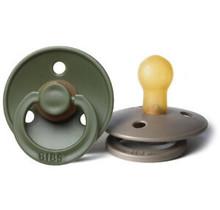 Hunter Green/Dark Oak BIBS Pacifier 2pk