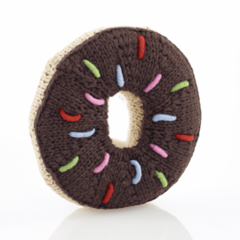 Pebble Chocolate Donut Rattle