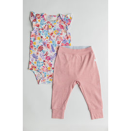 Loulou Lollipop Field Flowers Bodysuit & Pant Set