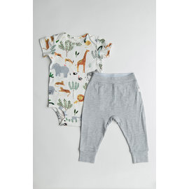 Loulou Lollipop Safari Bodysuit & Pant Set
