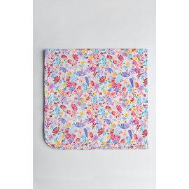 Loulou Lollipop Field Flowers Stretch Knit Swaddle Blanket