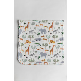Loulou Lollipop Safari Stretch Knit Swaddle Blanket