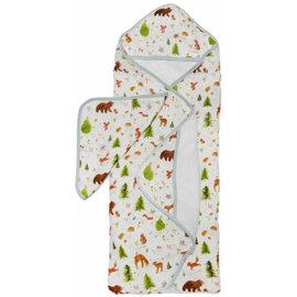 Loulou Lollipop Forest Friends Hooded Towel Set