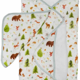 Forest Friends Hooded Towel Set