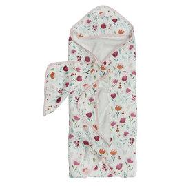 Loulou Lollipop Rosey Bloom Hooded Towel Set