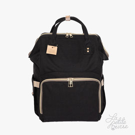 La Petite Ourse Backpack for Cloth Diapers - Black