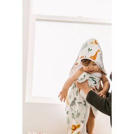 Loulou Lollipop Safari Jungle Hooded Towel Set