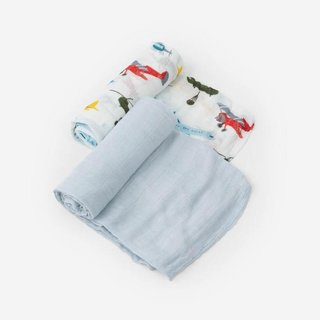 Air Show Deluxe Cotton Muslin Swaddle Set, 2 Pack