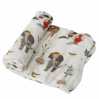 Safari Social Deluxe Cotton Muslin Swaddle