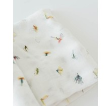 Gone Fishing Deluxe Cotton Muslin Swaddle