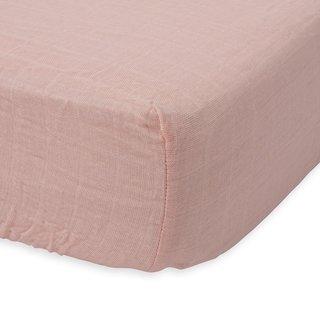Rose Petal Cotton Muslin Crib Sheet