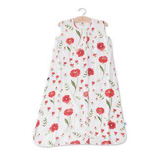 Summer Poppy Cotton Muslin Sleep Bag, 1.1 TOG
