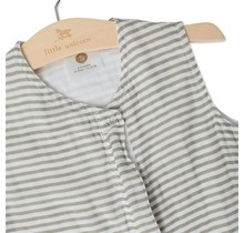 Grey Stripe Cotton Muslin Sleep Bag, 1.1 TOG