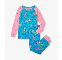 Jungle Cats Organic Raglan Pajama Set