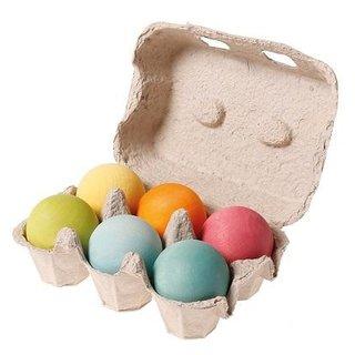 Grimm's Pastel Wooden Balls (6)