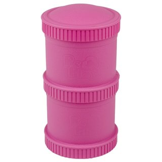 Bright Pink Snack Stack (2 pod base + 1 lid), Re-Play